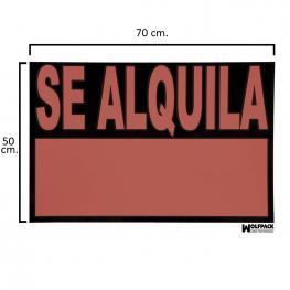 Cartel Se Alquila  70X50 Cm.