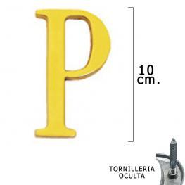 Letra Latón p 10 Cm. Con Tornilleria Oculta (Blister 1 Pieza)