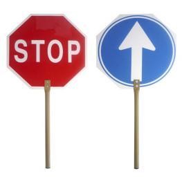Cartel Paletina Obra Stop-Avance 30X30 Cm.