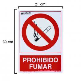 Cartel Prohibido Fumar 30X21 Cm.