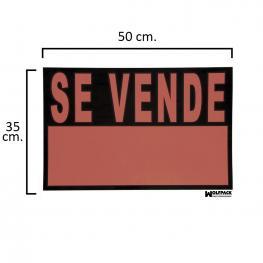 Cartel Se Vende  50X35 Cm.