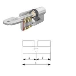 Cilindro Tesa Seguridad T60 /30X30 Niquelado Leva Corta