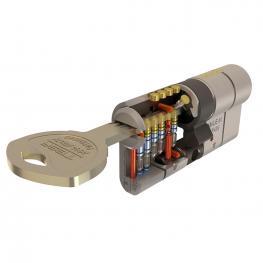 Cilindro Tesa Seguridad T70  30X30 Latonado Leva Larga