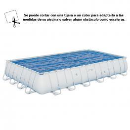 Cobertor Solar Para Piscina Rectangular 732X366 Cm.
