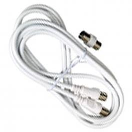 Conector Tv Video Macho / Macho  2 Metros Con Adaptador Macho / Hembra