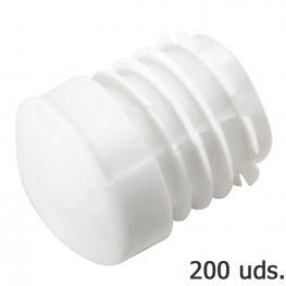 Contera Plastico Redonda Interior Blanca Para Tubo Exterior ø 22 Mm. Bolsa 200 Unidades