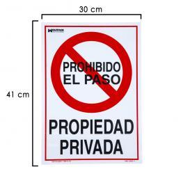 Cartel Propiedad Privada 41X30 Cm.