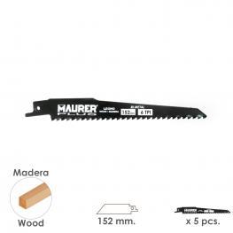 Hoja Para Sierra Sable Madera 152 Mm. - 6 Tpi Tipo Bosch (5 Piezas)