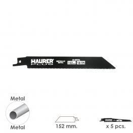 Hoja Para Sierra Sable Metal 152 Mm. - 18 Tpi Tipo Bosch (5 Piezas)