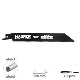 Hoja Para Sierra Sable Metal 228 Mm. - 18 Tpi Tipo Bosch (5 Piezas)