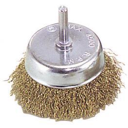 Cepillo Acero Latonado Taza          75 Mm. 1/4.