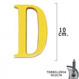 Letra Latón d 10 Cm. Con Tornilleria Oculta (Blister 1 Pieza)