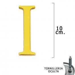 Letra Latón i 10 Cm. Con Tornilleria Oculta (Blister 1 Pieza)
