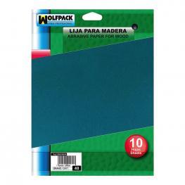 Lija Madera Grano 100 (Pack 10 Pliegos)
