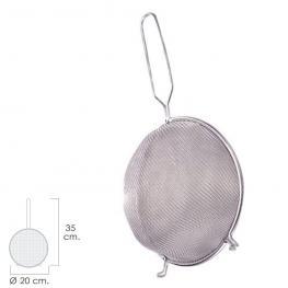 Colador Aluminio Con Malla Para Tamizado Fino ø 20 Cm. Con 2 Ganchos