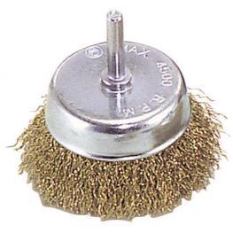 Cepillo Acero Latonado Taza          50 Mm. 1/4.
