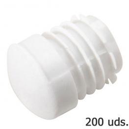 Contera Plastico Redonda Interior Blanca Para Tubo Exterior ø 25 Mm. Bolsa 200 Unidades