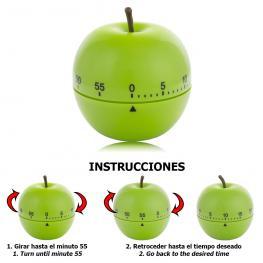 Minutero Cocina Manzana Verde 60 Minutos