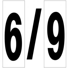 Numero Adhesivo 46X140 Mm.   Nº 6 / 9