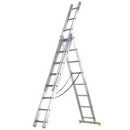Escalera Aluminio 3 Tramos  8+8+8 Peldaños