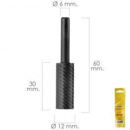 Fresa Rotativa Para Metal Cilindrica ø 12 Mm. Para Taladro / Fresadora