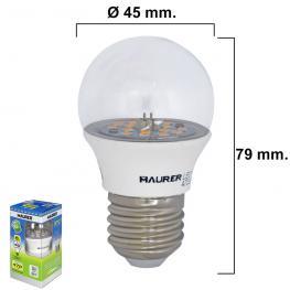 Bombilla Led Esferica Transparente Rosca E27 5 W. 40 W. 470 Lumenes Luz Blanca