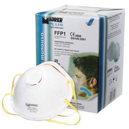 Mascarilla Maurer Ffp1S Con Válvula (Caja 10 Unidades)