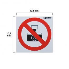 Cartel Prohibido Hacer Fotografias 10,5X10,5