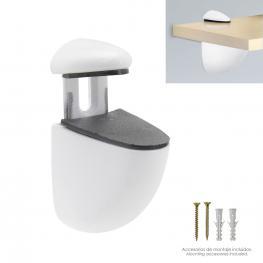 Soporte Pelicano Regulable Para Estante 1 / 20 Mm. Blanco  (1 Pieza)