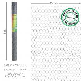 Enrejado Triple Torsion 25/ 100 Cm. Rollo 10 Metros Uso Domestico