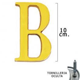 Letra Latón b 10 Cm. Con Tornilleria Oculta (Blister 1 Pieza)