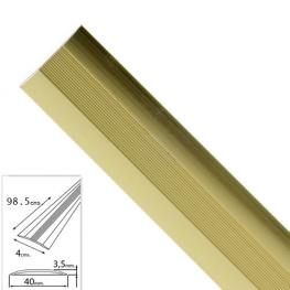 Tapajuntas Adhesivo Para Moquetas Aluminio Oro   98,5 Cm.