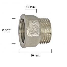 Alargadera Hexagonal Cromo 3/8X10