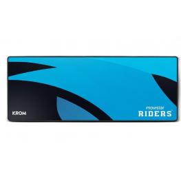 Alfombrilla Gaming Krom Movistar Riders Azul 900X350X3