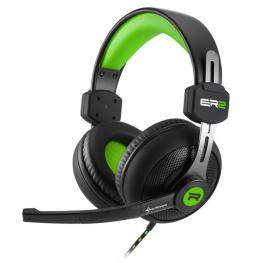 Auriculares Gaming Sharkoon Rush Er2 Verde Microfono Alambrico