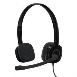 Auriculares Logitech H151 Negro Microfono Alambrico