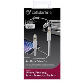 Cable Aux 3,5Mm A 3,5Mm Jack. Gris