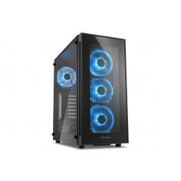 Caja Atx Sharkoon Tg5 2Xusb3.0 2Xusb2.0 Sin Fuente Azul