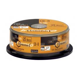 Cd-R Intenso 700 Mb/80 Min 52X Cakebox 25