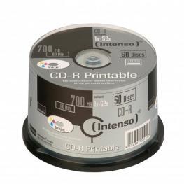 Cd-R Intenso 700 Mb/80 Min 52X Printable Cakebox 50