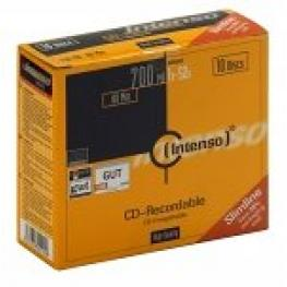 Cd-R Intenso 700 Mb/80 Min 52X Slim Case 10