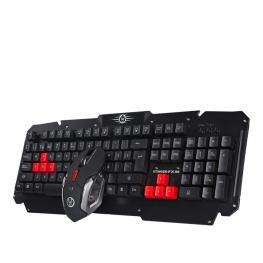 Combo Gaming Teclado Raton Alfombrilla Woxter Stinger Fx 95 W Inalambrico Negro