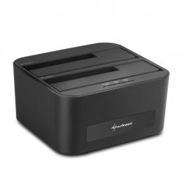 Docking Station Sharkoon Quickport Xt Duo 2.5/3.5 Sata Usb 3.0 Clone Function
