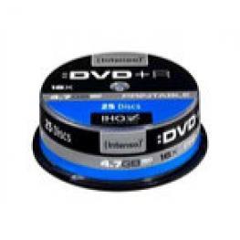 Dvd+R Intenso 4,7Gb 16X Printable Cakebox 25