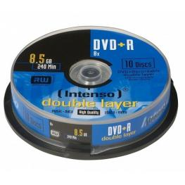 Dvd+R Intenso 8,5Gb 08X Double Layer Cakebox 10