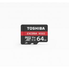Micro Sd Toshiba 64Gb M303 Exceria Uhs-I C3 R98 Con Adapt