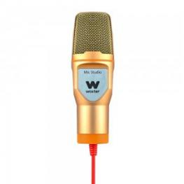 Microfono Condensador Woxter Mic Studio Dorado