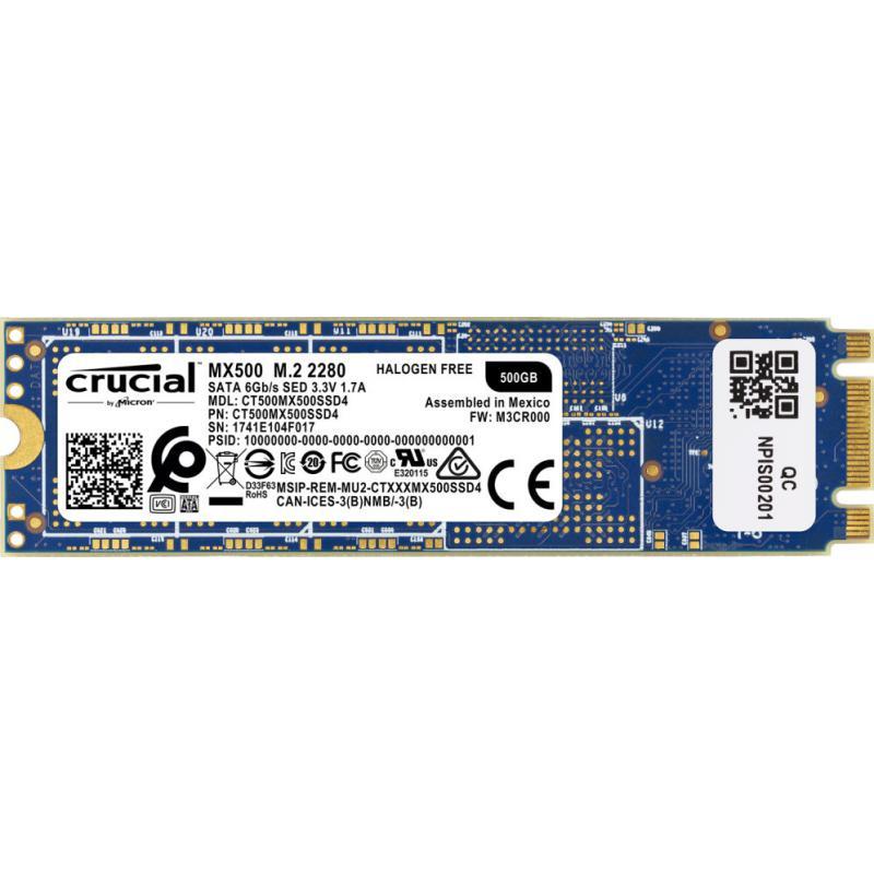 Ssd Crucial Mx500 500Gb M2