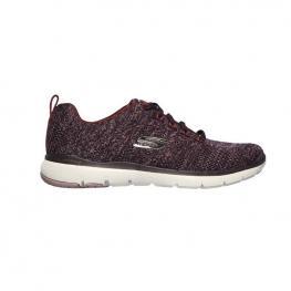 Zapatillas Skechers Flex Appeal 3.0 13077 - Burgundy Knit Mesh / Off