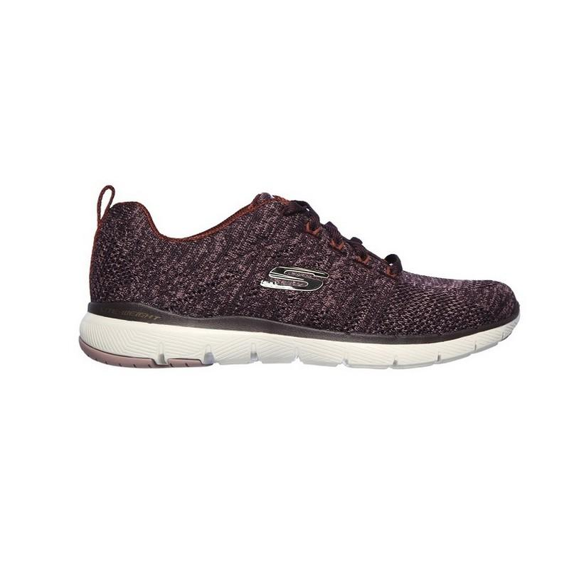 Zapatillas Skechers Flex Appeal 3.0 13077 Burgundy Knit Mesh Off Yub Store